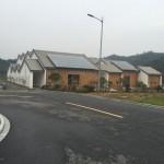 I villaggi in costruzione ad ANJI e LIN' AN